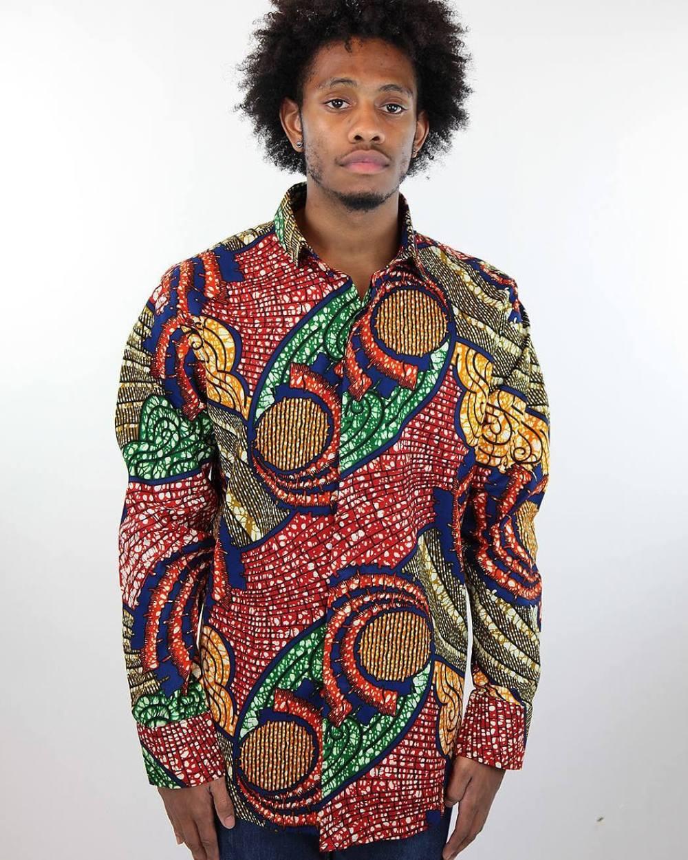 ankara shirt mens shirt