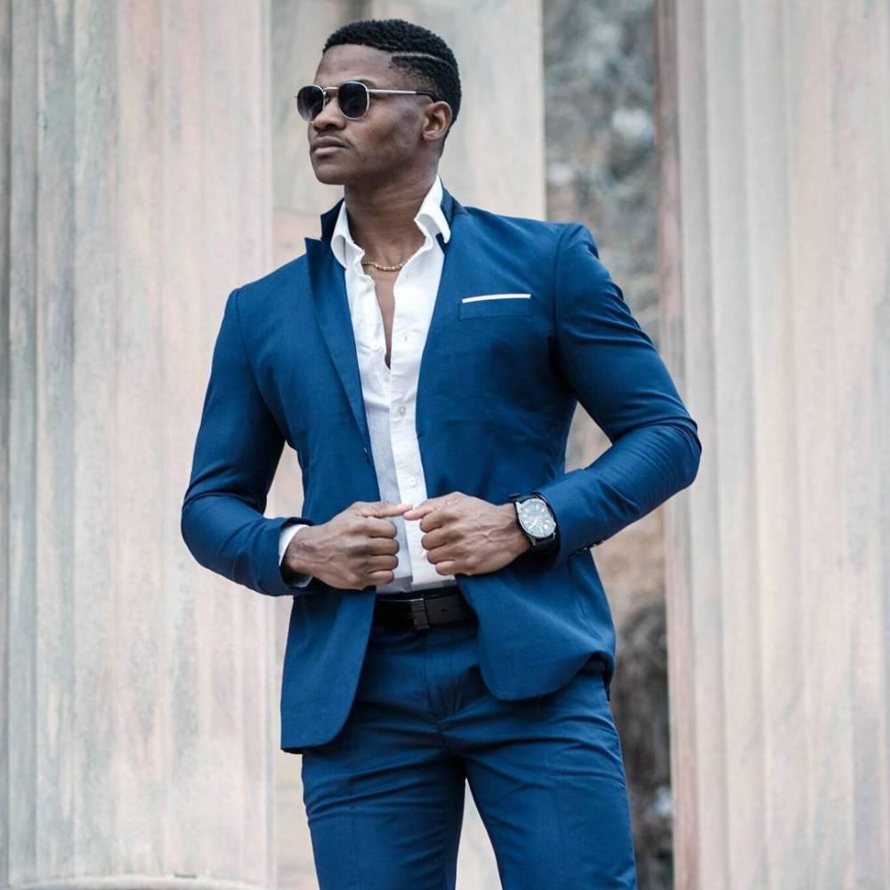 navy blue suit with nice blazer