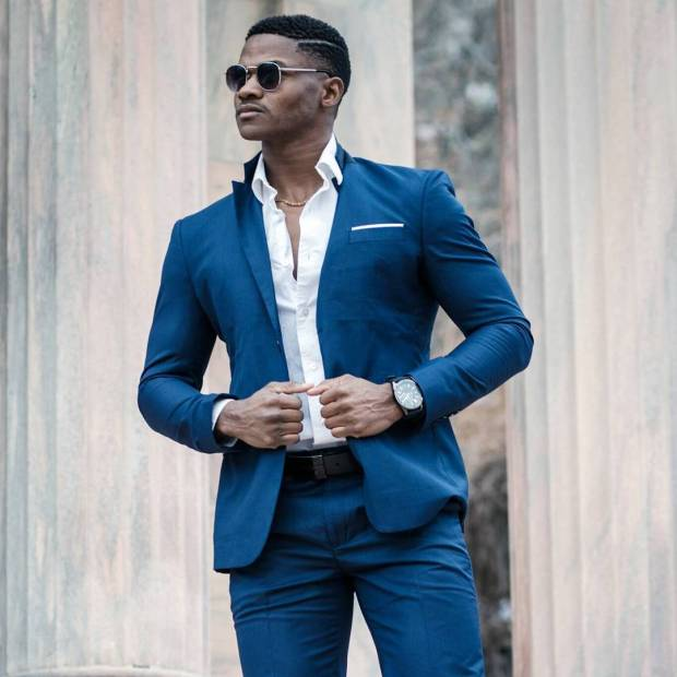 navy blue suit with nice blazer