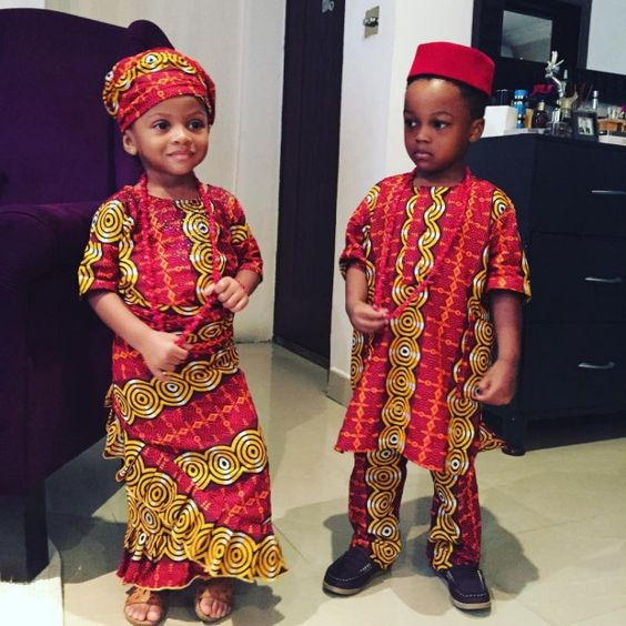 red and yellow ankara styes for baby boy