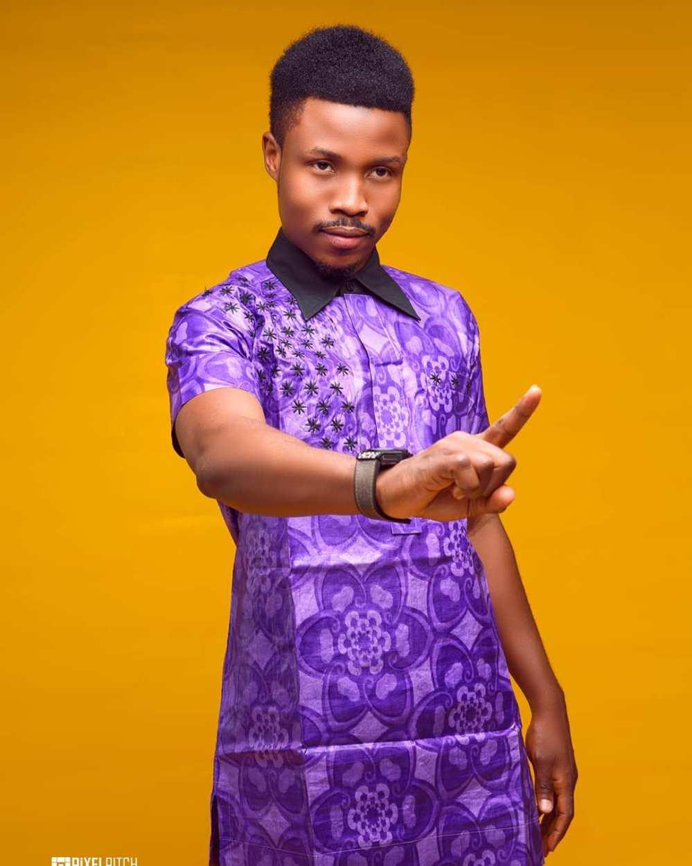 purple arewa hausa style