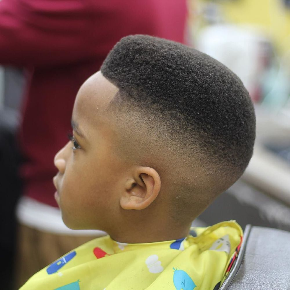 simple punk haircut with fade