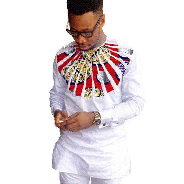 Kitenge Embroidered shirt