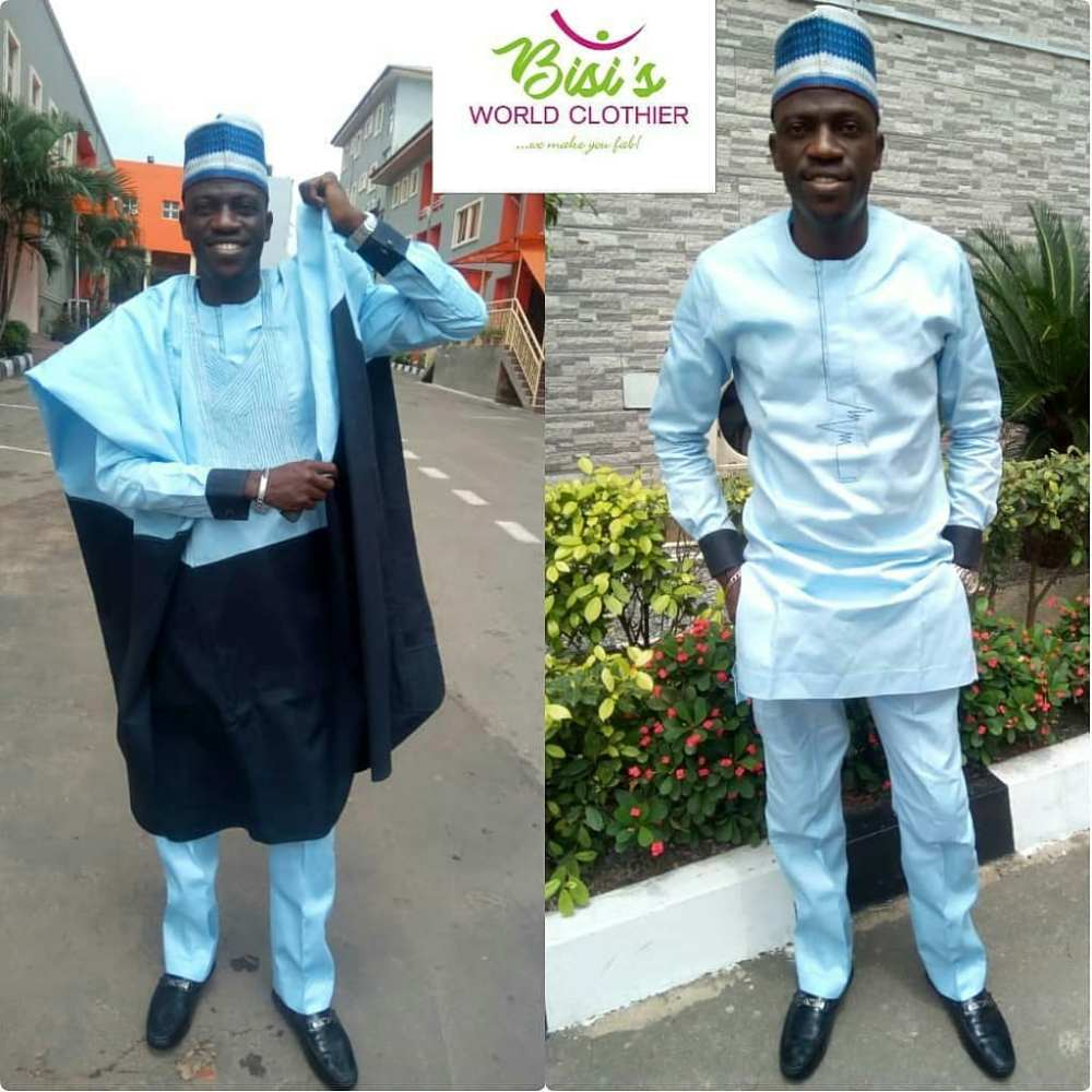 0colour blocked agbada style