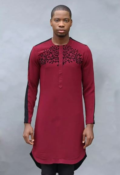 wine kaftan style for men