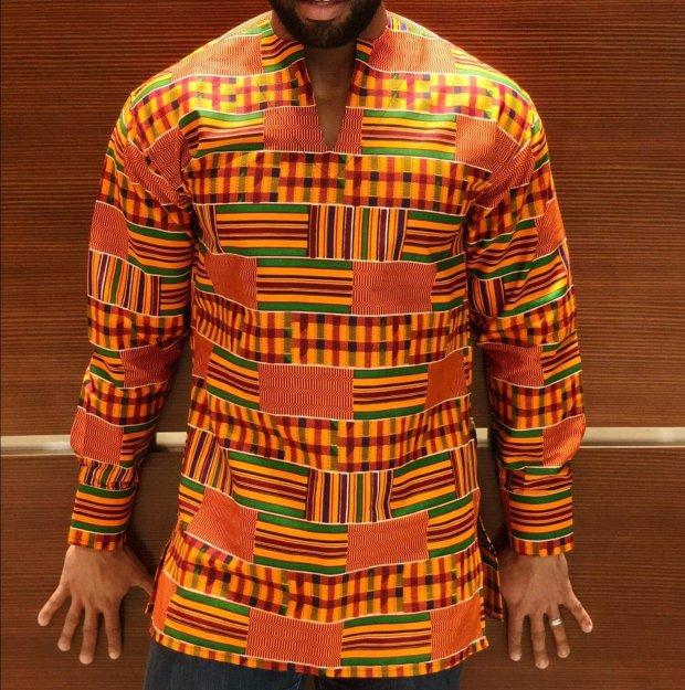 kente long sleeved shirt