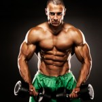 muscle building lifting weights