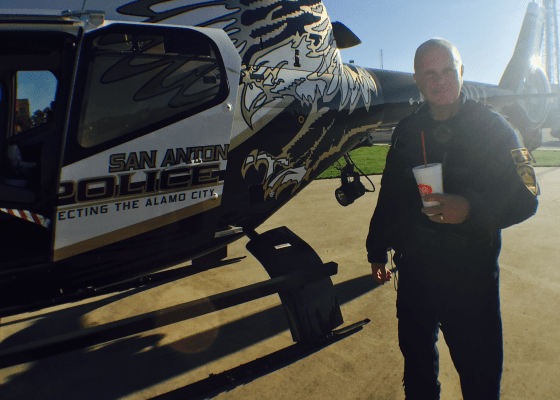 San Antonio Police Helicopter and its pilot, a man of steel.