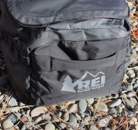 This image shows the grab handles on the REI Co-op Big Haul 120 Duffel.