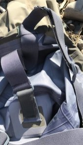This Orvis Silver Sonic Convertible-Top Waders review image shows the adjustable shoulder straps on the Orvis Silver Sonic Convertible-Top Waders.