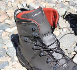 This photo shows the top half of the Simms Freestone Boot.