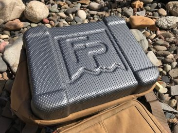 This photo shows the bottom of the Fishpond Blizzard Soft Cooler.
