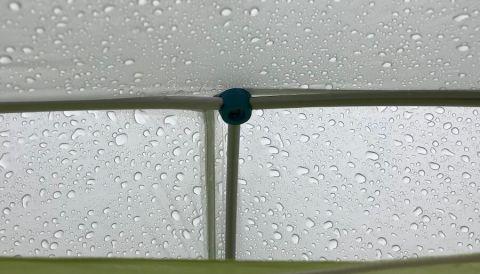 This photo shows the Big Agnes Fly Creek HV2 Platinum tent pole hub system.