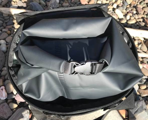This photo shows the Grizzly Drifter 20 waterproof liner.
