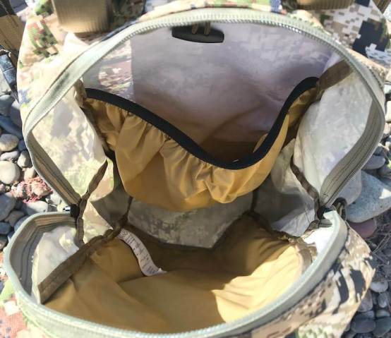 This photo shows the Mystery Ranch Mule pack interior.