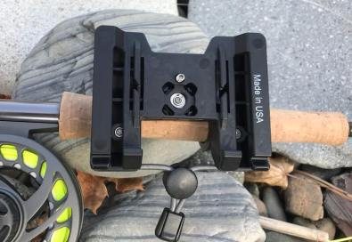This photo shows the backside of the O'Pros 3rd Hand Rod Holder.