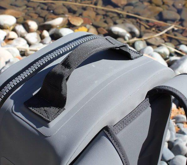 This photo shows the YETI Panga Backpack 28 top grab handle.