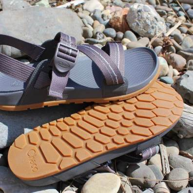 This photo show the side and sole of the the Chacos Lowdown Sandals.