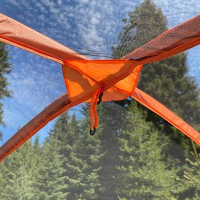 This review photo shows the Eureka! Copper Canyon LX 6 Tent interior mesh ceiling.