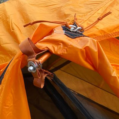 This photo shows the rainfly attachment point on the Half Dome SL 2+ Tent.