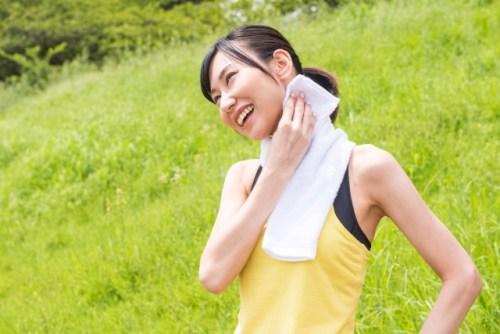 汗ばむくらいの運動を使用