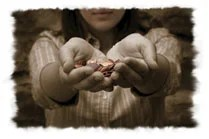 The Bible does not specify the amount to be given for offerings.