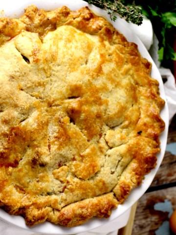 flaky turkey pot pie