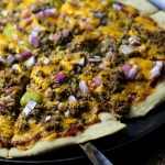 Cheeseburger Pizza|www.mannaandspice.com
