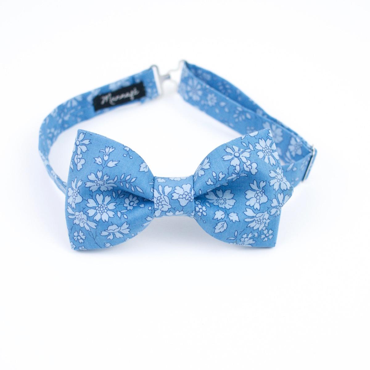 Noeud papillon Liberty Capel blue