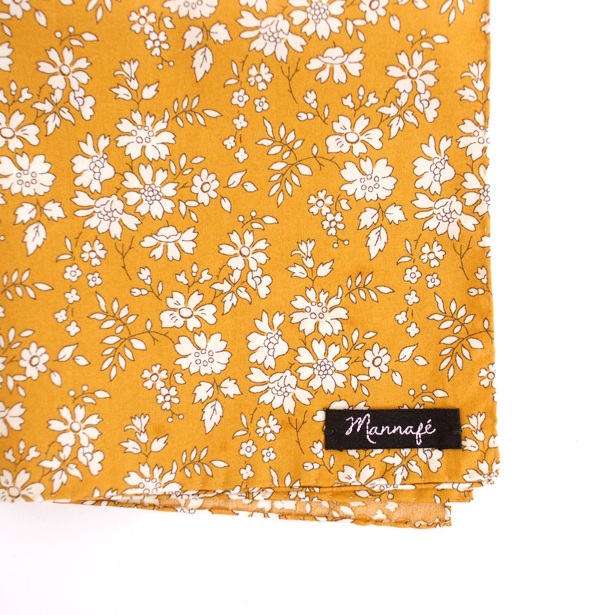 Pochette de costume Liberty Capel moutarde