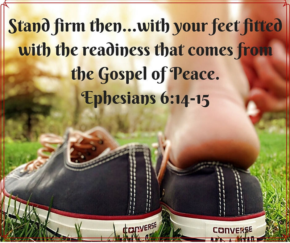 Shoes of readiness with the Gospel of Peace
