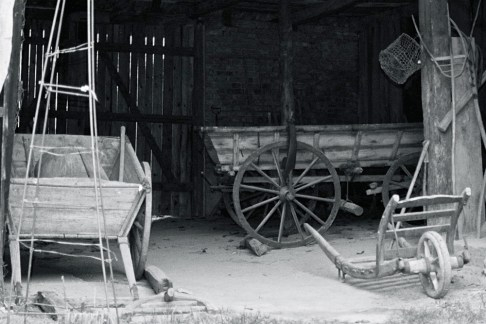 Old agricultural carriages, Museum Loisium, Lower Austria