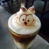 garfield 3d coffee art