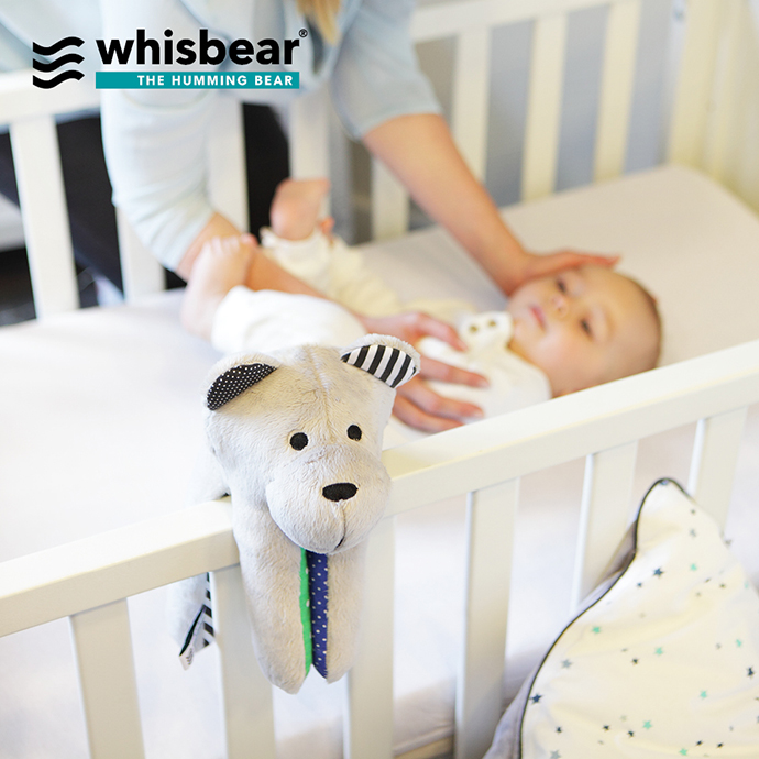 Whisbear, the whitenoise bear to keep baby sleeping | More on Mannaparis.com