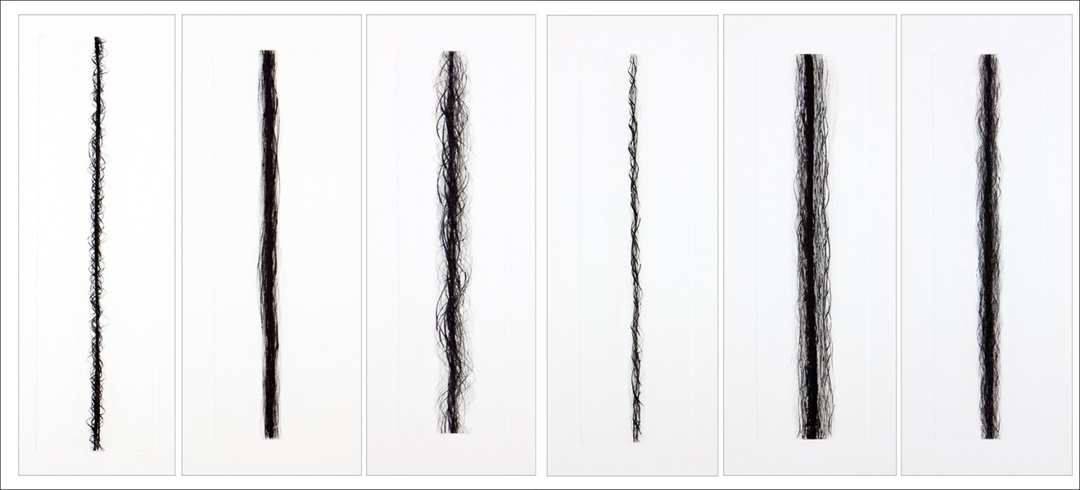 """""""Helices"""", 2003-11. Suite of six drypoints. Editions of 8."""