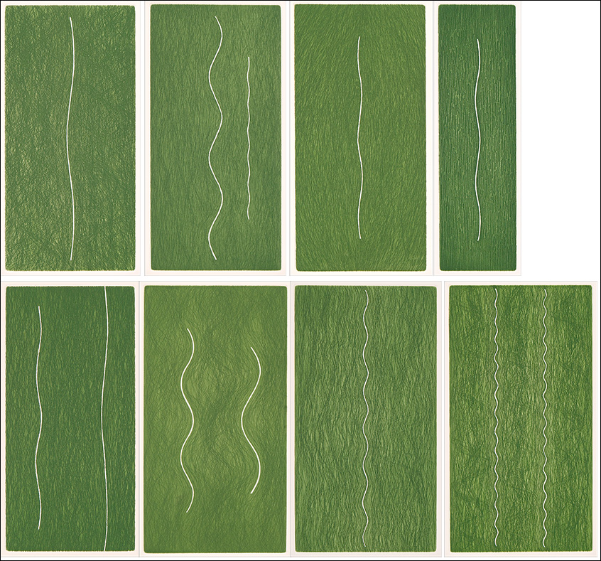 """""""Slip/1 - 8"""", 1998. Suite of eight etchings. Editions of 20."""