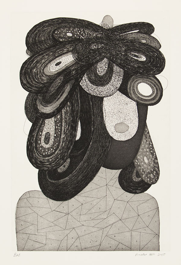 """Richard Hull: """"Ton"""", 2015. Etching and aquatint, edition of 20. Published by Manneken Press."""