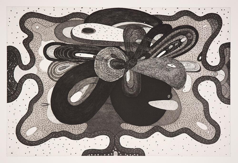 Richard Hull, Manneken Press, etching, Tuesday,