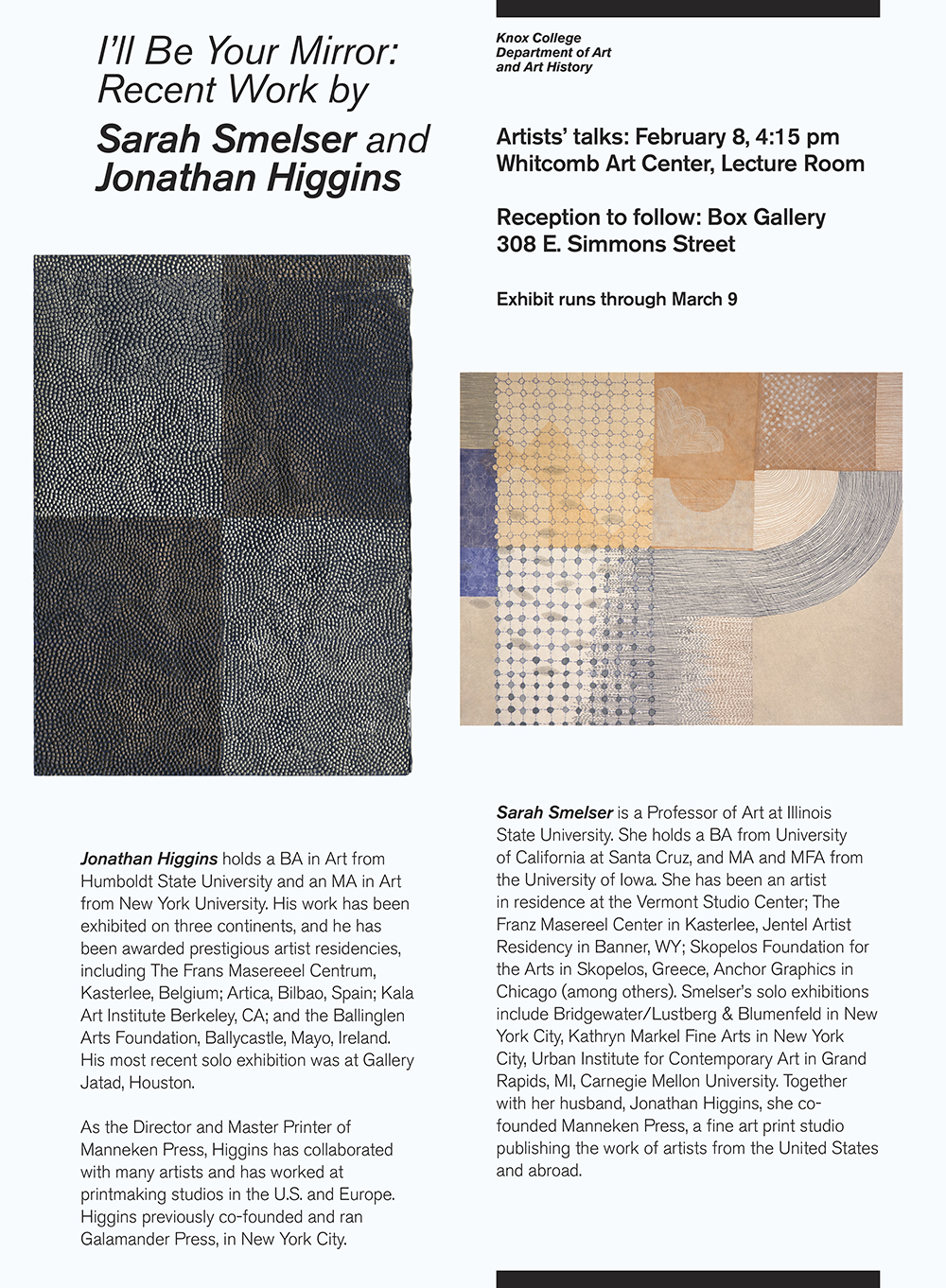 Manneken Press, Jonathan Higgins, Sarah Smelser, The Box Gallery