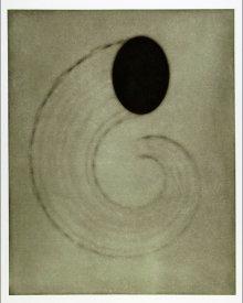 """Untitled (cornucopia)"", 2001.  Photogravure mono print with chine colle'. Image: 28"" x 22 ¼"", paper: 35"" x 29 ¼"". Edition # 12/25."