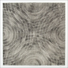 """Arcs & Semicircles lV"", 2003. Lithograph with chine colle', edition of 12. Image: 24"" x 24"", paper: 30"" x 30""."