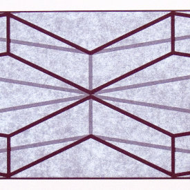 """Extruded Element"", 2009. Woodcut and chine colle', edition of 10. Image: 8"" x 32"", paper: 14"" x 38""."