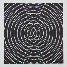 """Radial Symmetry lll"", 2004. Linoleum cut, edition of 12. Image: 18"" x 18"", paper: 22 ½"" x 22 ½""."