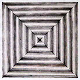"""Concentric Squares"", 2007. Lithograph with chine colle', edition of 15. Image: 24"" x 24"", paper: 30"" x 30"".."