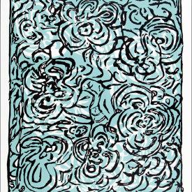 """Water Flowers"", 2005. Linoleum cut, edition of 20. 27 ½"" x 25""."