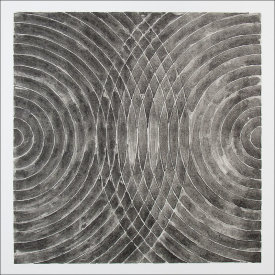 """Arcs & Semicircles l"", 2003. Lithograph with chine colle', edition of 12. Image: 24"" x 24"", paper: 30"" x 30""."