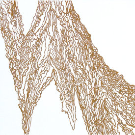 """Wood Drip lV"", 2007.  Photo-etching, edition of 10. Image size: 16"" x 16"", paper size: 22"" x 22""."