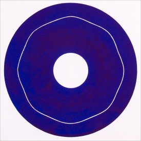 """Iris/6"", 2000.  Etching, edition of 20. Image: 10"" diameter, paper: 11"" x 11""."