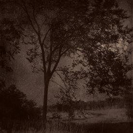"""""""Nocturnal Landscape 112"""", 2016. Photograph printed on Hahnemühle Rice Paper, mounted to Stonehenge paper. 22"""" x 18"""", edition of 3."""