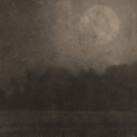"""""""Nocturnal Landscape 817"""", 2016. Photograph printed on Hahnemühle Rice Paper, mounted to Stonehenge paper. 22"""" x 18"""", edition of 3."""
